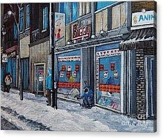 Winter Scene Verdun Acrylic Print by Reb Frost