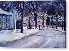 Winter Stroll Acrylic Print by Karol Wyckoff