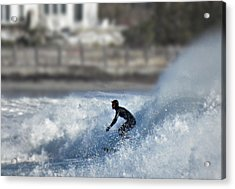 Winter Surf Acrylic Print by Thomas Stirling