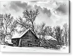 Winter Thoughts 2 - Bw Acrylic Print by Steve Harrington