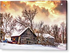 Winter Thoughts 2 - Paint Acrylic Print by Steve Harrington