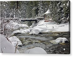 Winter's Blanket Acrylic Print by Mary Amerman