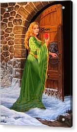 Winter's Last Rose Acrylic Print by Pat Lewis