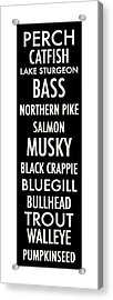 Wisconsin Fish Acrylic Print by Geoff Strehlow