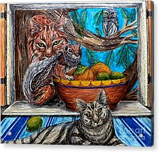 Wisdom Would Say Acrylic Print by Kim Jones