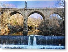 Wissahickon Viaduct Acrylic Print by Bill Cannon
