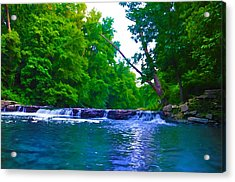Wissahickon Waterfall Acrylic Print by Bill Cannon