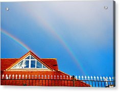 With Double Bless Of Rainbow Acrylic Print by Jenny Rainbow