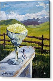 With Salt Acrylic Print by Mary Giacomini
