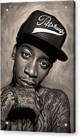 Wiz Khalifa Artwork  Acrylic Print by Sheraz A