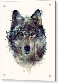 Wolf // Persevere Acrylic Print by Amy Hamilton