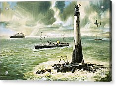 Wolf Rock Lighthouse At Land's End Acrylic Print by Wilf Hardy