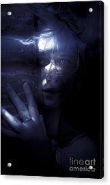 Woman Behind Tree Acrylic Print by Jorgo Photography - Wall Art Gallery