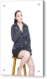 Woman Brainstorming Creative Business Solutions Acrylic Print by Jorgo Photography - Wall Art Gallery