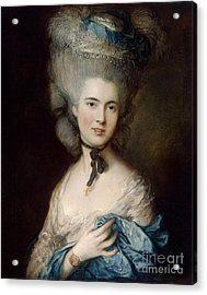 Woman In Blue The Duchess Of Beaufort Acrylic Print by Gainsborough