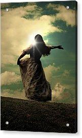 Woman On A Meadow Acrylic Print by Joana Kruse