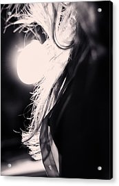 Woman Silhouette Acrylic Print by Stelios Kleanthous