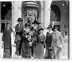 Woman Suffrage - Political Campaign Rose Winslow - Lucy Burns - Doris Stevens - Ruth Astor Noyes Etc Acrylic Print by International  Images