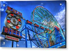 Wonder Wheel Acrylic Print by Bryan Hochman