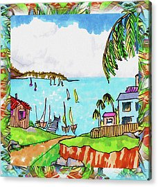 Wonderful Village Acrylic Print by Margaret Wingstedt