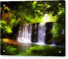 Wondrous Waterfall Acrylic Print by Bill Cannon