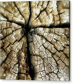 Wood Cross Acrylic Print by Tina Valvano
