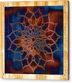 Wooden Mandala Acrylic Print by Hakon Soreide