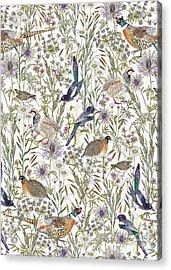 Woodland Edge Birds Acrylic Print by Jacqueline Colley