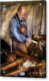 Woodworker - The Carpenter Acrylic Print by Mike Savad