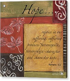 Words To Live By Hope Acrylic Print by Debbie DeWitt