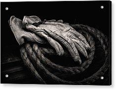 Work Gloves Still Life Acrylic Print by Tom Mc Nemar