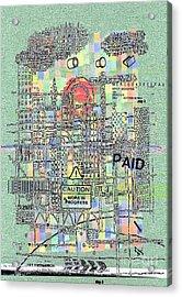 Work In Progress 3 Acrylic Print by Andy  Mercer