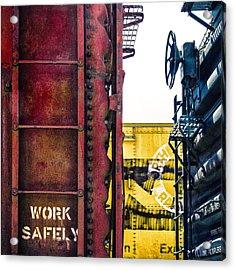 Work Safely Acrylic Print by Humboldt Street