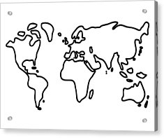 World Globe Acrylic Print by Lineamentum
