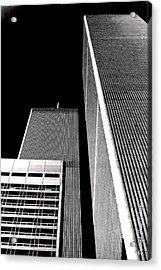 World Trade Center Pillars Acrylic Print by Deborah  Crew-Johnson