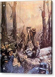 World War I, American Marines In The Acrylic Print by Everett