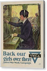 World War I Ywca Poster Acrylic Print by Clarence F Underwood