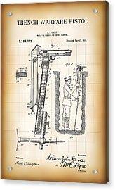 World War One Trench Warfare Pistol 1916 Acrylic Print by Daniel Hagerman