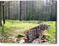 Acrylic Print featuring the photograph World War One Trenches by Travel Pics