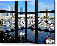 Worlds Biggest Boat Party Acrylic Print by David Lee Thompson