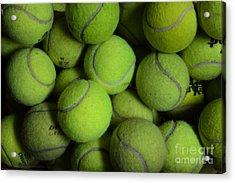 Worn Out Tennis Balls Acrylic Print by Paul Ward