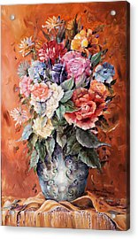 Wrapped In Flowers Acrylic Print by Ellen Lerner ODonnell