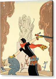 Wrath Acrylic Print by Georges Barbier