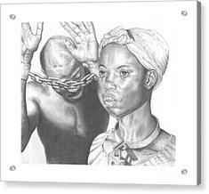 Wretched Bonds Of Slavery Acrylic Print by Sandra Pryer