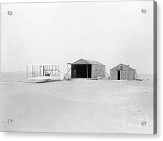 Wright Flyer, Hangar And Workshop, 1903 Acrylic Print by Photo Researchers