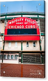 Wrigley Field Sign Photo Acrylic Print by Paul Velgos