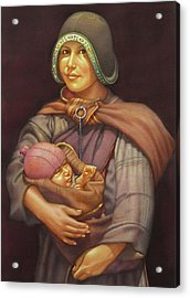Ws1979dc003 Mother And Child 18x24 Acrylic Print by Alfredo Da Silva
