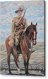 Ww1 Lighthorse At Beersheba Acrylic Print by Leonie Bell