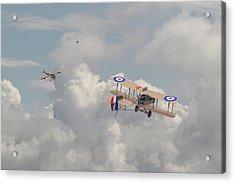 Ww1 - The Fokker Scourge - Eindecker Acrylic Print by Pat Speirs