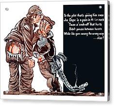 Wwii Joe Dope Cartoon Acrylic Print by War Is Hell Store